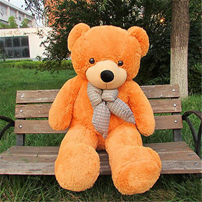 "Giant Teddy Bear Big Stuffed Huge Animal Toys Doll 55"" Valentine Birthday Gift"