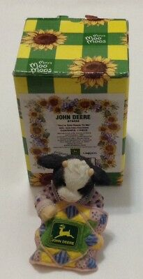 John Deere Mary's Moo Moos YOU'RE SEW DEERE TO ME Girl Quilting Figurine W/Box