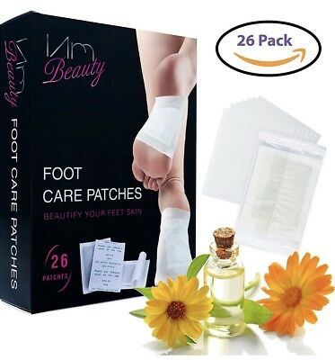 26-Pack Foot Pads Patches Pain Relief Adhesive Care To Remove Impurities, Stress