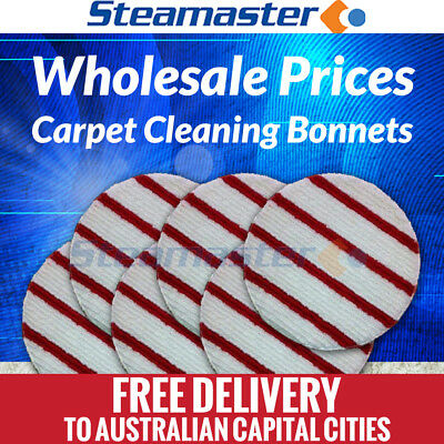 Deep Steam Carpet Cleaner 6 x Polivac C27 C25 Carpet Cleaning Bonnet Pad 17""