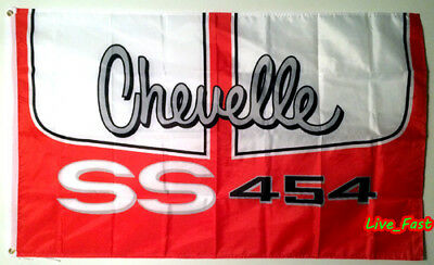 CHEVELLE SS SUPER SPORT 454 BIG BLOCK CHEVY FLAG BANNER 3X5 muscle car racing