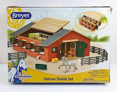 Stablemates Deluxe Stable Set Kids Toys Horses House Farm Barn NEW Damaged Box
