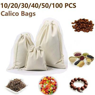 10-50PCS Drawstring Bags Storage Drawstring Cotton Bags Linen Big Tote Bag Tool