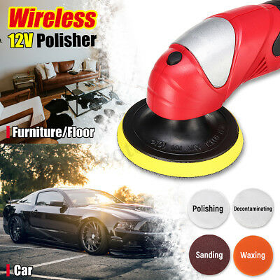 12V Battery Car Polisher Waxer 5-level Speed Portable Waxing Machine Shockproof