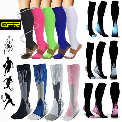 Sports 15-30mmHg Medical Compression Socks Support Stockings Travel Flight Socks