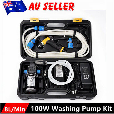 100W 12V Self-Priming Electric Water Pump Car Washer Washing Machine Kit AU