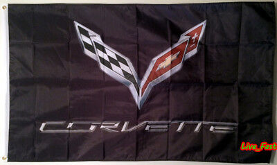 C7 Corvette Flag Banner 3X5 Stingray Z51 Z06 Zr1 Grand Sport