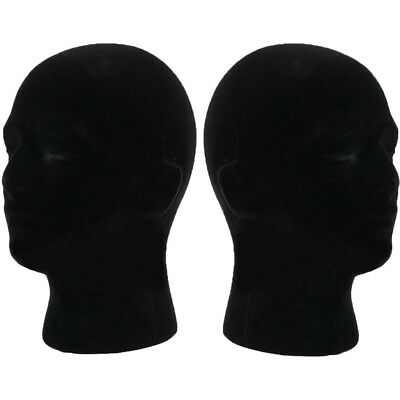 Male Polystyrene Styrofoam Foam Head Model Stand Wig Hair Hat Mannequin