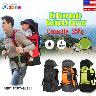 74bdacf8f36 Deluxe Adjustable Baby Carrier Outdoor Light Hiking Child Backpack Camping
