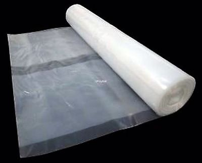 Heavy Duty Clear Polythene Plastic Sheeting 4M Wide DPM Rolls 250Mu,1000 Gauge