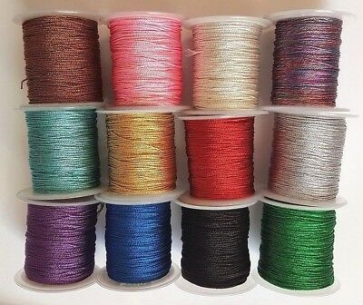 All Colors 1Mm Metallic Cord, Woven String Decorations, Crafts, Xmas Stringing