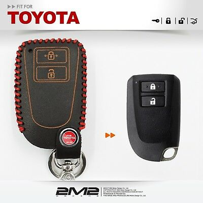 Leather Key fob Holder Case Chain Cover FIT FOR TOYOTA TRD Hilux RAV4 PRADO VIOS