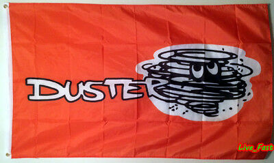 PLYMOUTH DUSTER BADGE FLAG BANNER valiant 340 vntg retro muscle car collectable