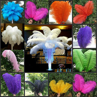Natural Ostrich Feathers 6-22inch/15-55cm Beauty Mixed Colours 10-50pcs Crafts