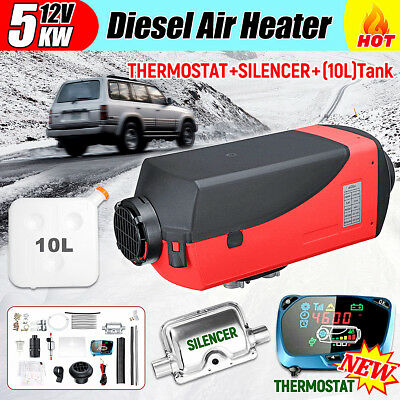 12V 5KW Diesel Air Heater 10L Tank LCD Thermostat For Truck Boat Car Trailer