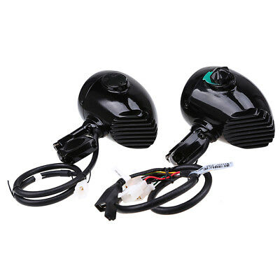 For Harley Motorcycle Bullet Speaker Audio System Bluetooth AUX Phone Charge