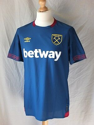 Brand New Genuine West Ham United 2018/19 Away Shirt - Men's Adult Small & Large