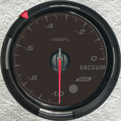 "Vacuum Gauge With senders,-100-0Kpa, 2-3/8""/60mm, 64 backlight Colors Available"