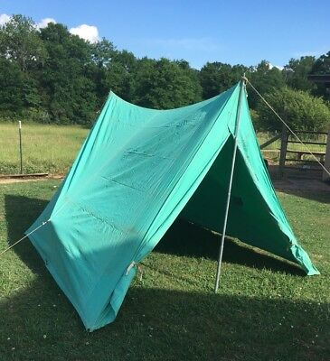Vintage Boy Scout Official Voyageur Tent Complete 1960s Voyager 2 Person Camping