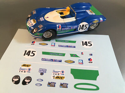 Stickers Pour Matra 650 #145 Jouef 1/40 (No Decal Ideal Slot) Dcs003
