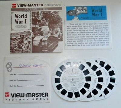 World War I Ww1 Viewmaster Reels 1975 Set B792 - Very Rare Complete B931