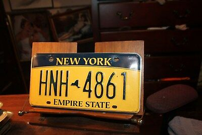 2010 New York Empire State License Plate HNH 4861 (A)
