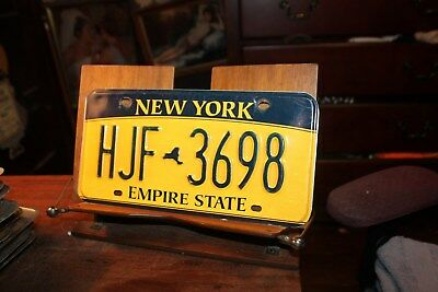 2010 New York Empire State License Plate HJF 3398 (B)