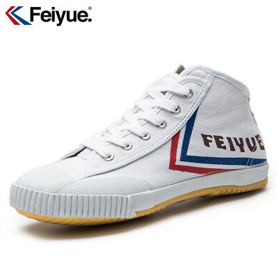 Feiyue Wushu Training Shoes Hightop White Martial Arts Kung Fu Slippers Trainers