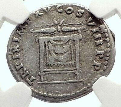 TITUS 80AD Authentic Ancient Silver Roman Coin POMPEII Eruption Time NGC i71726