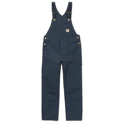 Carhartt WIP Bib Overall, Turner Canvas, Navy Rinsed, W32in L32in