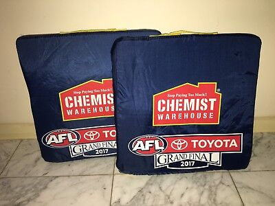 2x 2017 AFL GRAND FINAL RICHMOND TIGERS PREMIERS MCG SEAT CUSHIONS AUTHENTIC