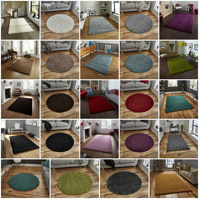 Modern Small Extra Large Circle Round 5Cm Shag Pile Vista Shaggy Rugs By Think