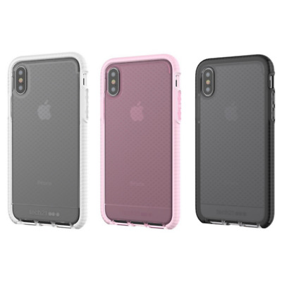 New iPhone X Tech21 EVO CHECK Clear/Black/Pink