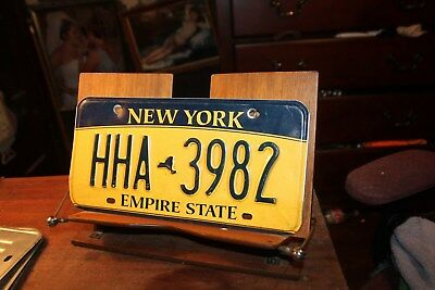 2010 New York Empire State License Plate HHA 3982 BENT
