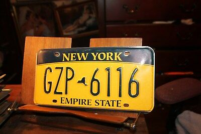 2010 New York Empire State License Plate GZP 6116