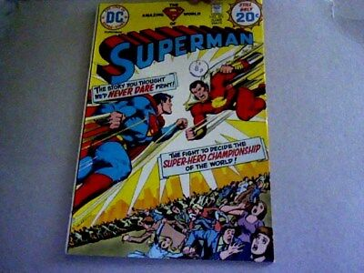 SUPERMAN # 276 In Battle with Captain Thunder (1974)  scarce !   Bagged/Boarded
