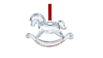 New Authentic Swarovski BABY'S 1ST CHRISTMAS ORNAMENT, ANNUAL EDITION 5376369
