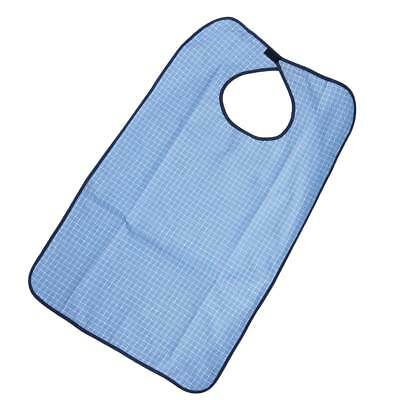 Reusable Plaid Mealtime Clothing Protector Adult Bib for Elderly Disabled