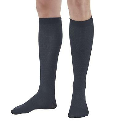 Ames Walker Men's AW Style 625 Pin-Dot Pattern Microfiber Compression Knee High