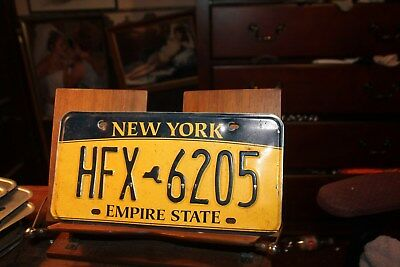 2010 New York Empire State License Plate HFX 6205 (B) BENT