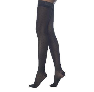 Sigvaris 711 Allure Closed Toe Thigh Highs w/Lace Band - 15-20mmHg Short