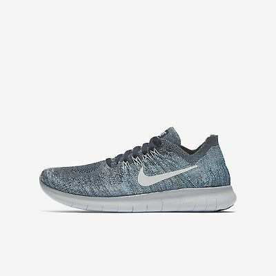 f646e304e12a Youth Nike Free RN Flyknit 2017 GS Running Shoe Blue Platinum Size 7Y  881973 402
