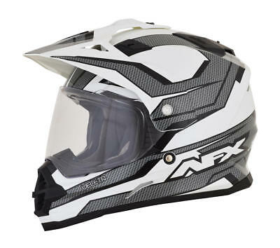 Afx Helm Fx-39 Veleta Dual Sport Helmet Medium Black/white/gray Medium