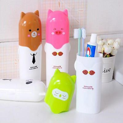 Portable Cute Cartoon Toothbrush Toothpaste Holder Travel Storage Case MA