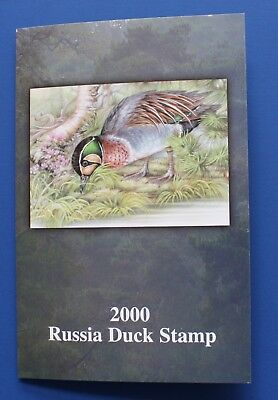 Russia (RD12) 2000 Russia Duck Stamp Presentation Folder with Stamp