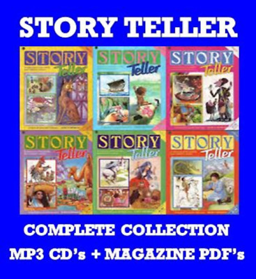 Story Teller Audio Book Collection 8 MP3 CD's + Magazines PDF's on 2 DATA DVD's