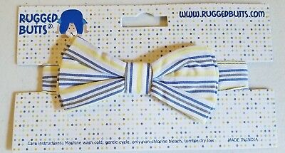 Boys RUGGED BUTTS boutique bow tie 2T 3T 4T NWT baby toddler blue white gray