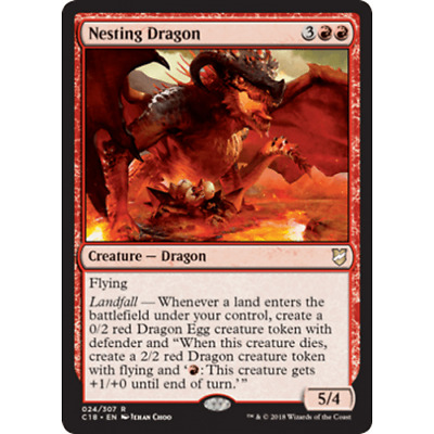 1x NESTING DRAGON - Dragon - Commander - MTG - NM - Magic the Gathering