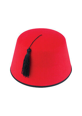 FEZ HAT Red Tarboosh Tommy Cooper Moroccan Turkish Fancy Dress Up Costume Unisex