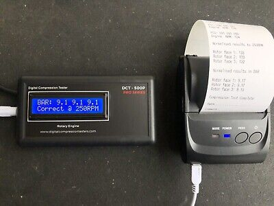 with printer rx8 digital 13b v8 rx7 piston and rotary compression tester